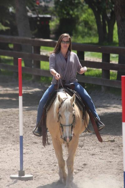 Angela Showing She Can Still Ride