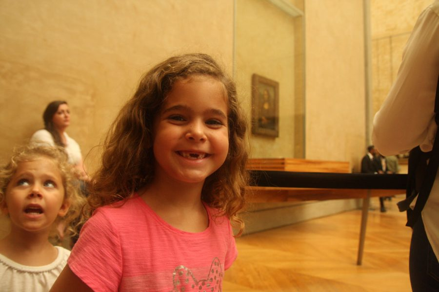 Ella with the Mona Lisa