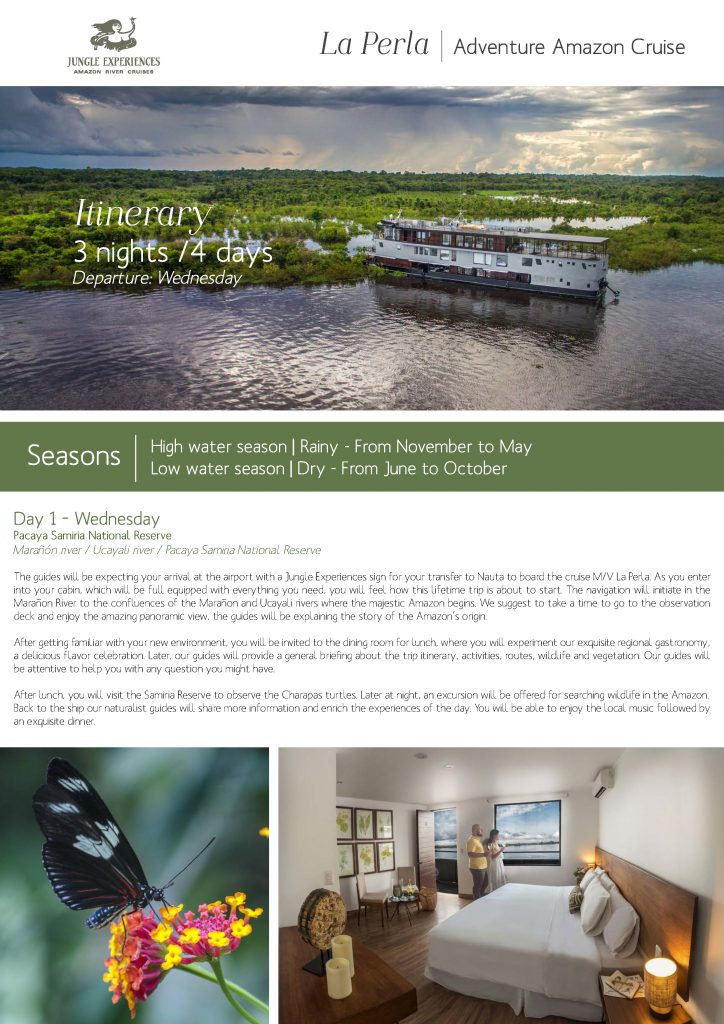 Jungle Expeditions, Join the Piersons on an Amazon River Cruise