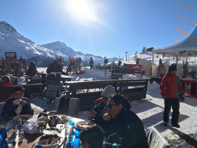 Outdoor Lunch - St Moritz