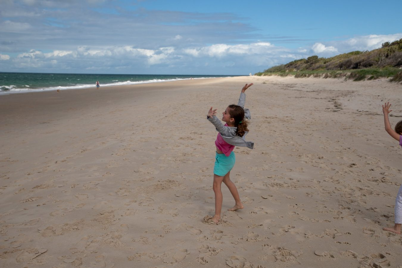 Cartwheels on the Beach