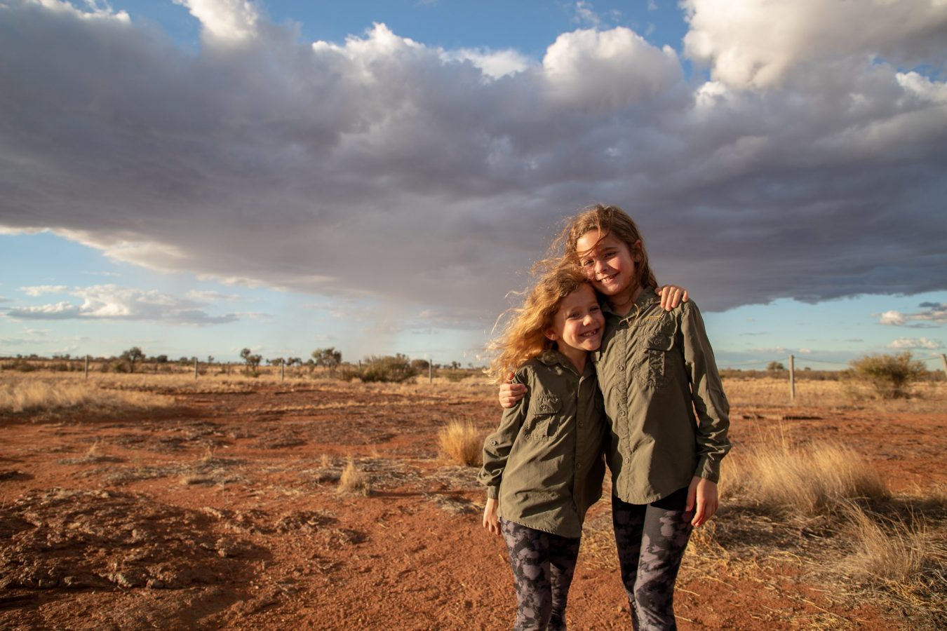 Fun in the outback by Uluru