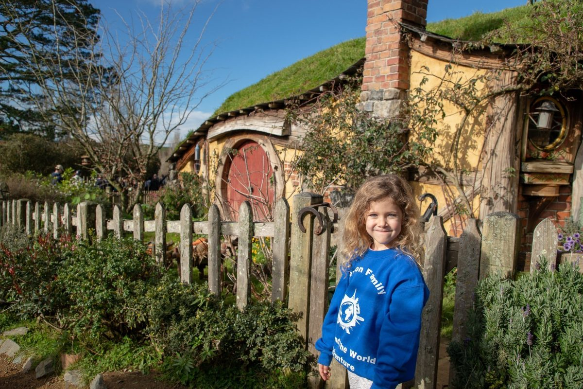 Hobbit holes, just about the right size for Emily