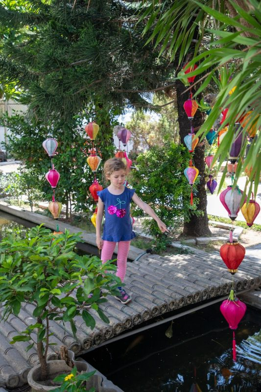 Checking out some of the hanging paper lanterns