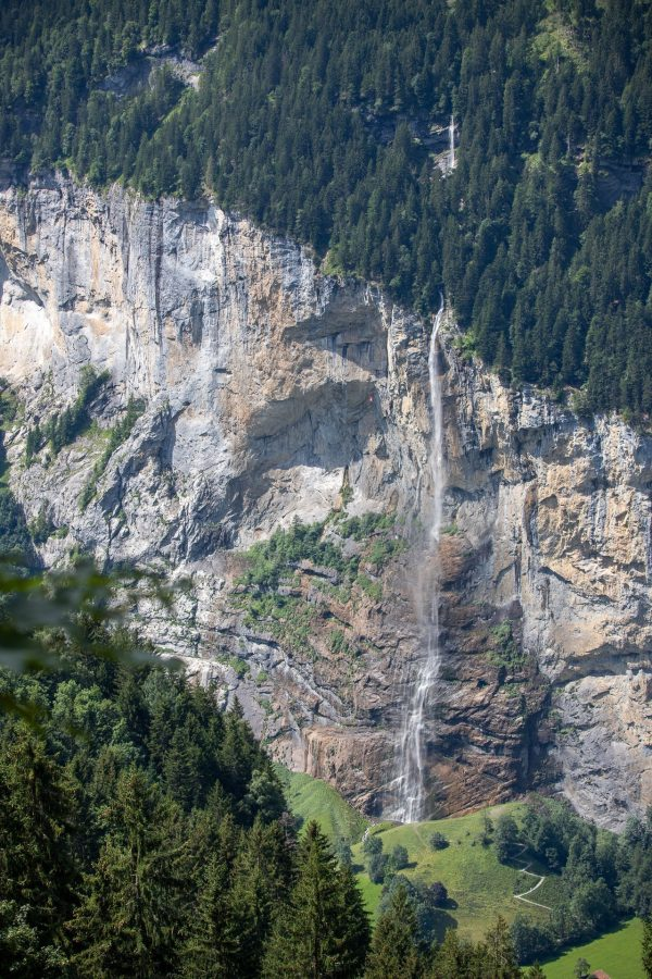 One of the many waterfalls above Lauterbrunnen