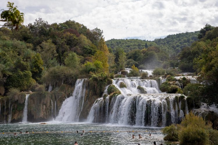 One of the many Falls at Krka National Park