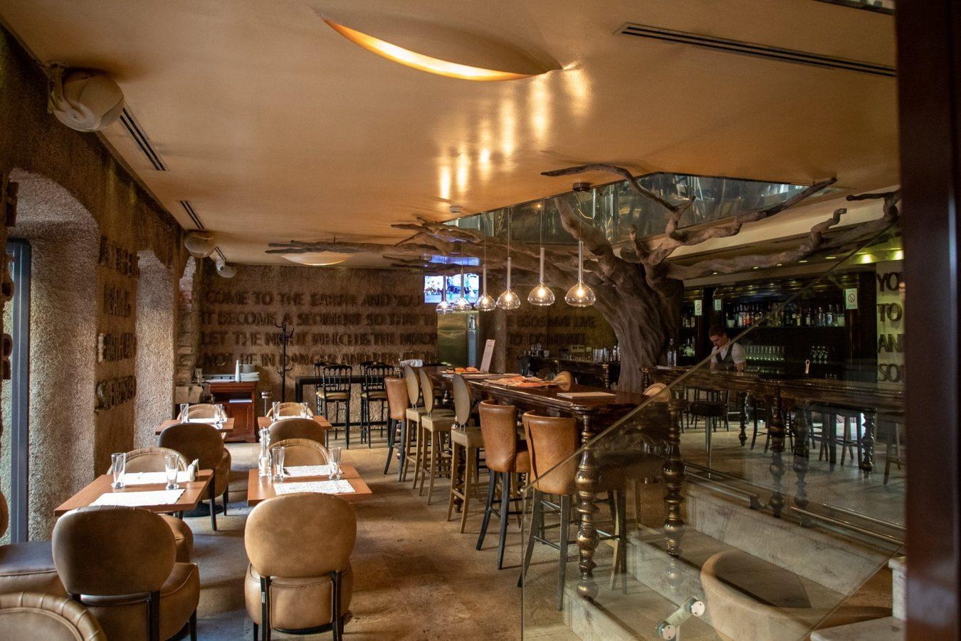 A newer hotel restaurant  in Kotor