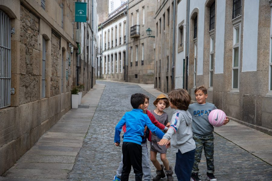 Some of the local children out playing in the streets