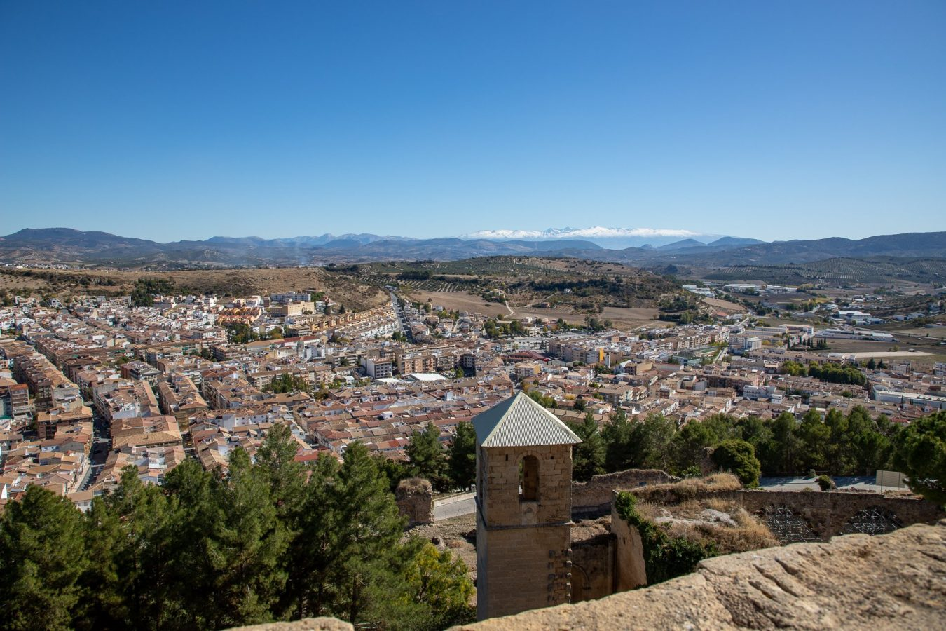 Looking over Alcala la Real from La Mota