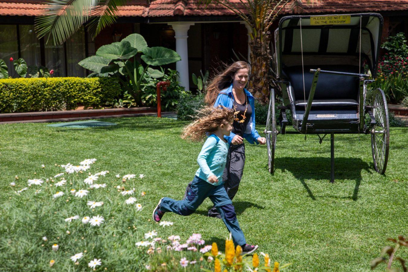 Playing around in the Fairmont Nairobi