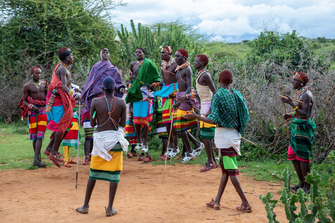 young men from the village showing their traditional dances