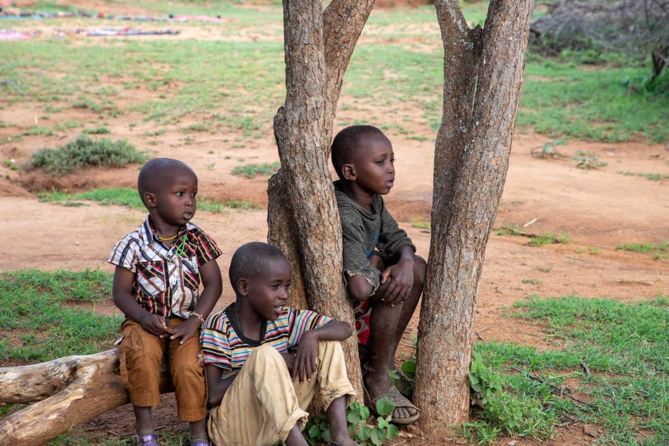 young children watching from the sidelines