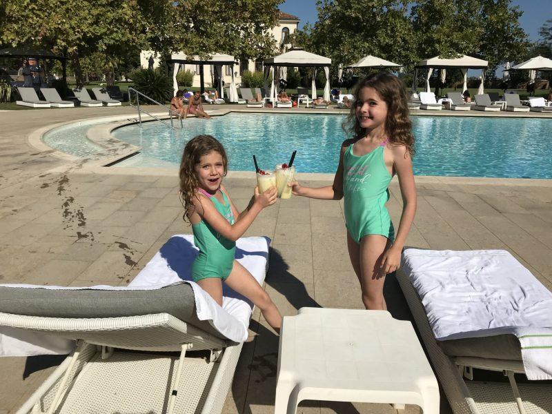 Enjoying the pool at San Clemente Palace Kempinski