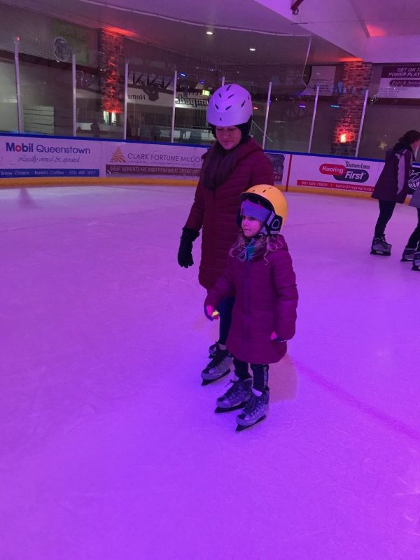 Ice Skating under the Neon Lights