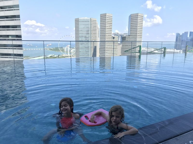 Enjoying the pool on the 25th Story at the Andaz Hotel