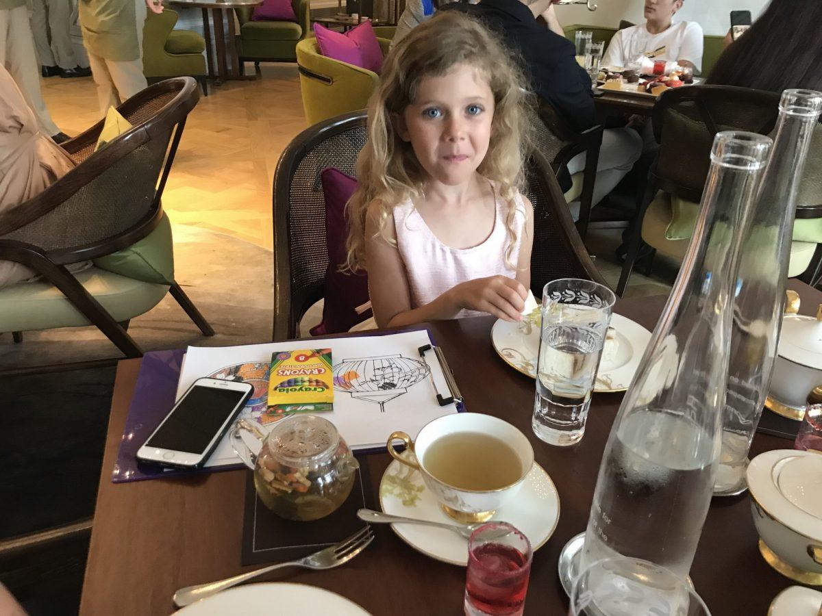 Enjoying a proper High Tea