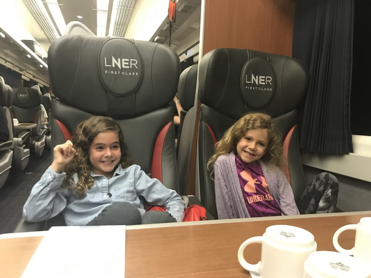 Enjoying the train up to Scotlnand