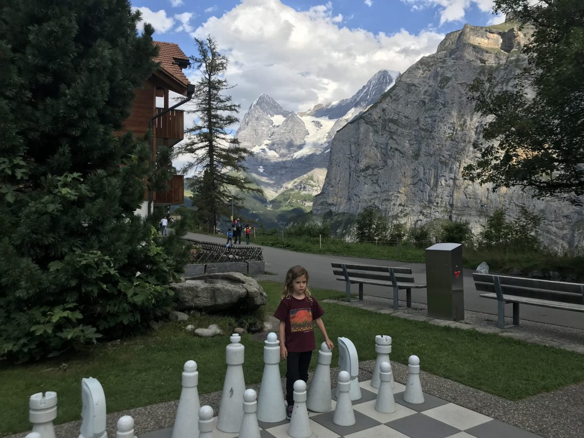 Jumbo chess with a view