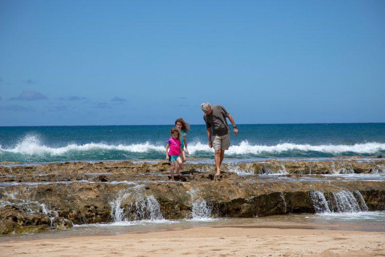 Walking the Rocks at Salt Pond Beach