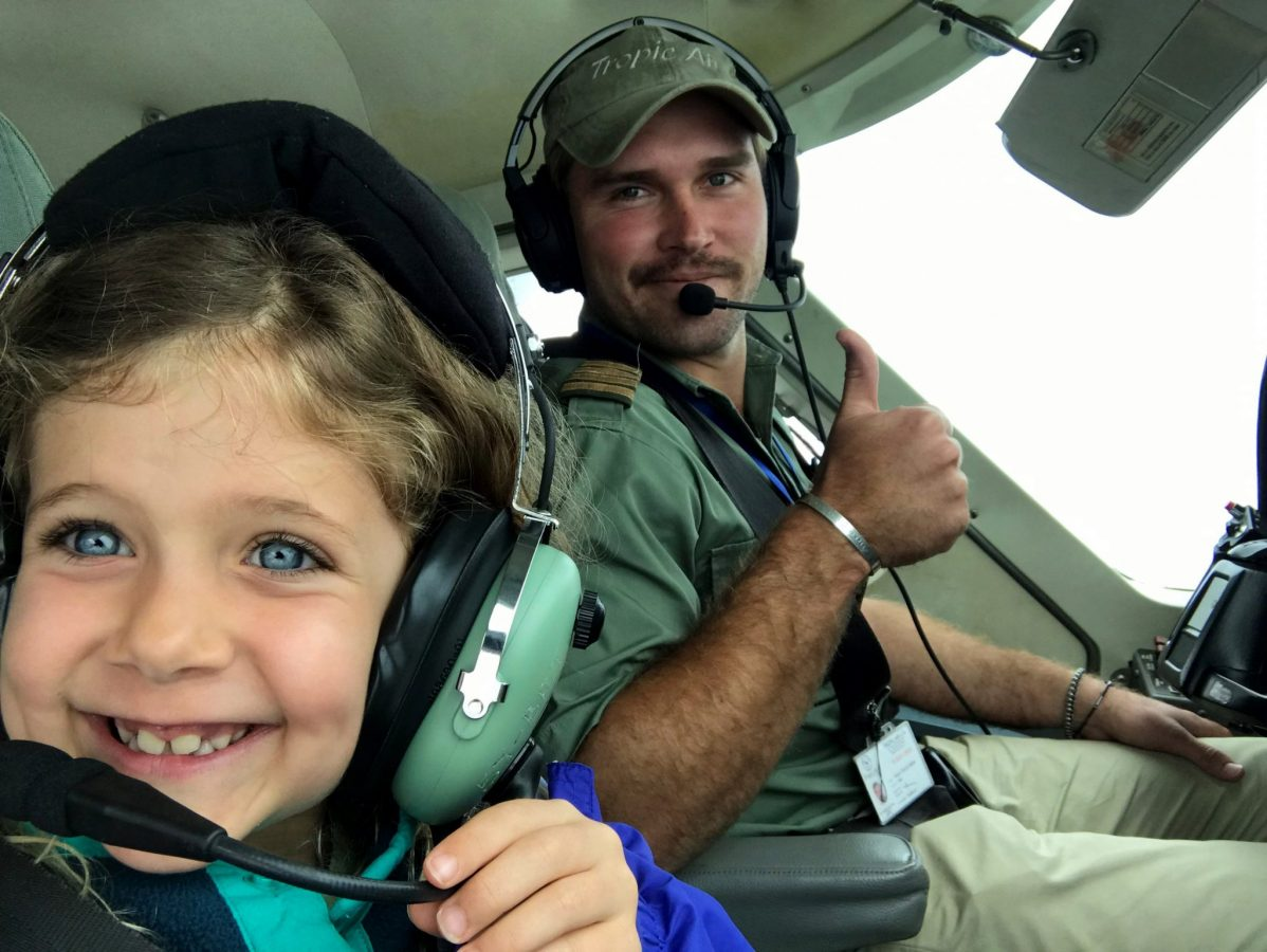 Excited to help fly the plane